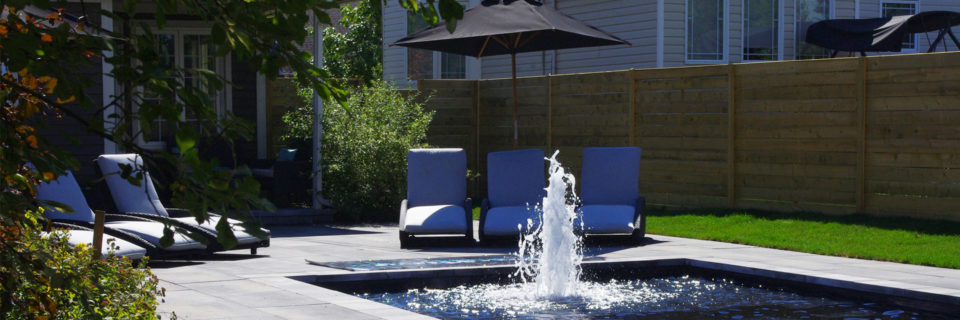 Features a pool, fountain, 